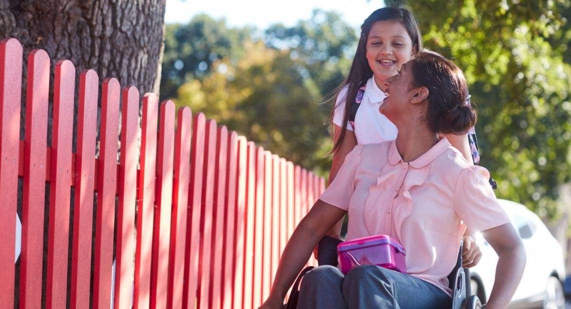 Motability Scheme customer with daughter