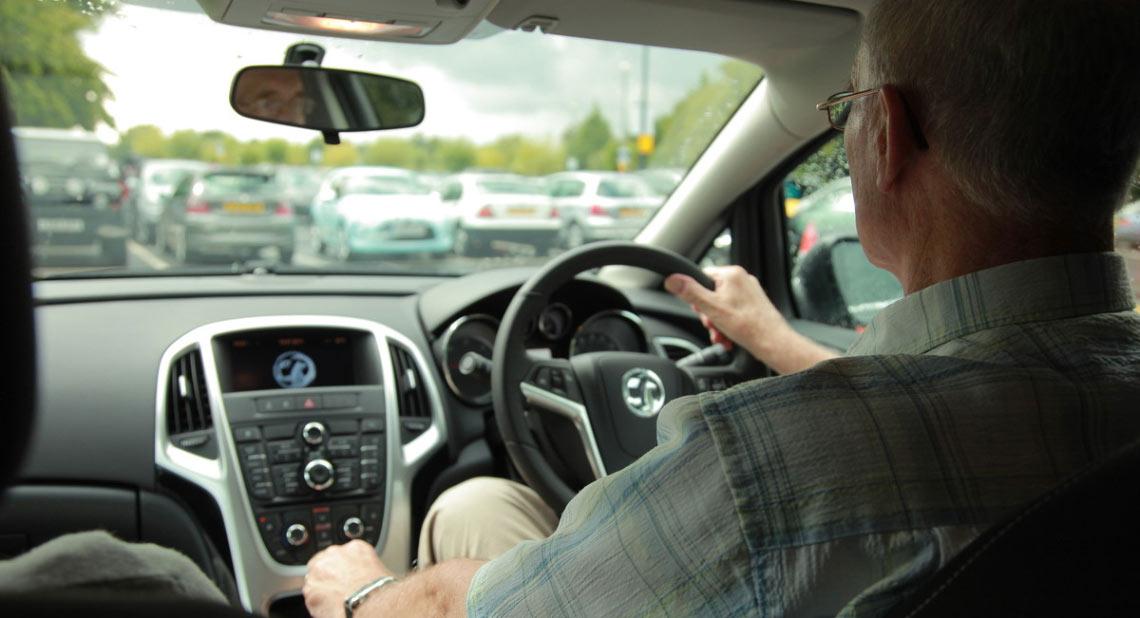 Motability Scheme customer driving car